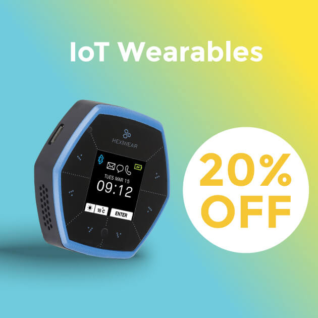 IoT Wearables 20% OFF